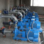 Estacion de bombeo de agua para riego